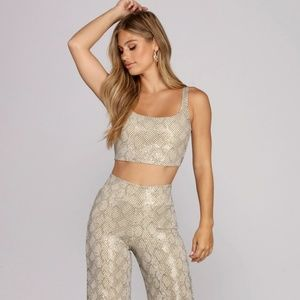 Snakeskin Tank and Pants Set